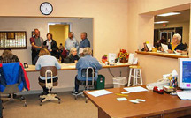 Mountain Home christian Clinic office staff volunteers helping clients